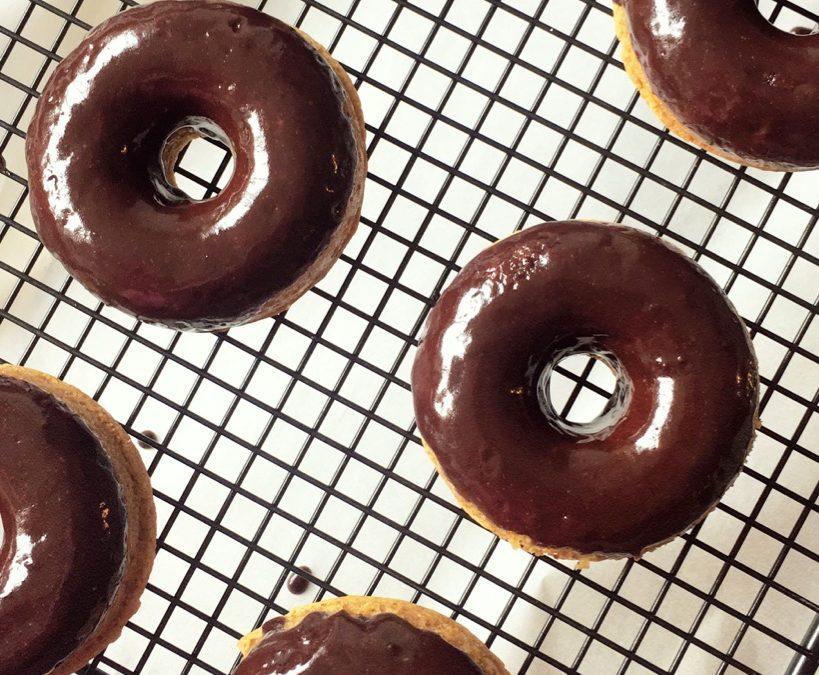 Paleo Chocolate glazed donuts
